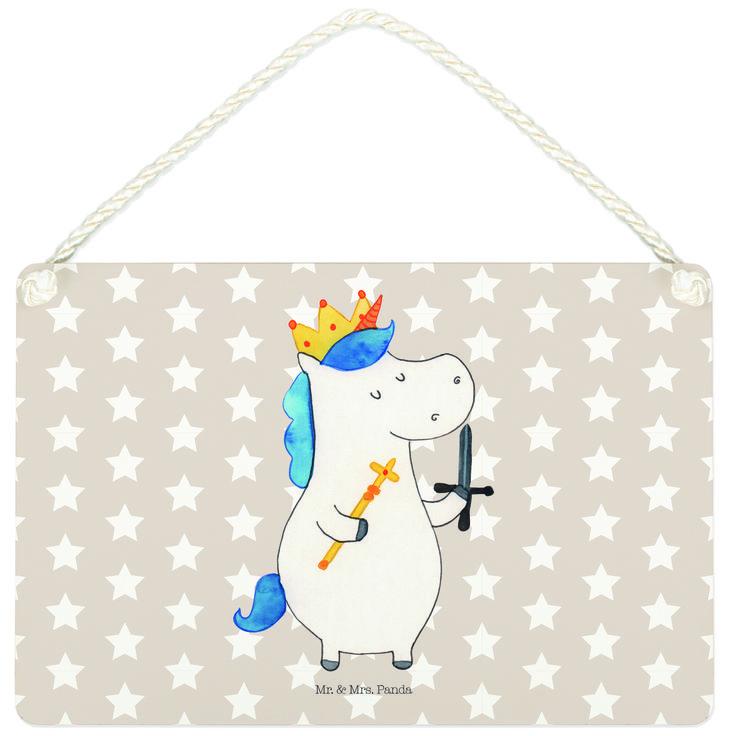 Deko Schild Einhorn König mit Schwert aus MDF  Weiß - Das Original von Mr. & Mrs. Panda.  Ein wunderschönes Schild aus der Manufaktur von Mr. & Mrs. Panda - die Schilder werden von uns direkt nach der Bestellung liebevoll bedruckt und mit einer wunderschönen Kordel zum Aufhängen versehen.    Über unser Motiv Einhorn König mit Schwert  Ein Einhorn Edition ist eine ganz besonders liebevolle und einzigartige Kollektion von Mr. & Mrs. Panda. Wie immer bei unseren Produkten sind alle Motive…