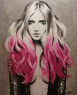 //: Sketch, Paint Pens, Inspiration, Pink Hair, Art, Mcmanus Illustration, Pippa Mcmanus, Acrylic, Fashion Illustrations