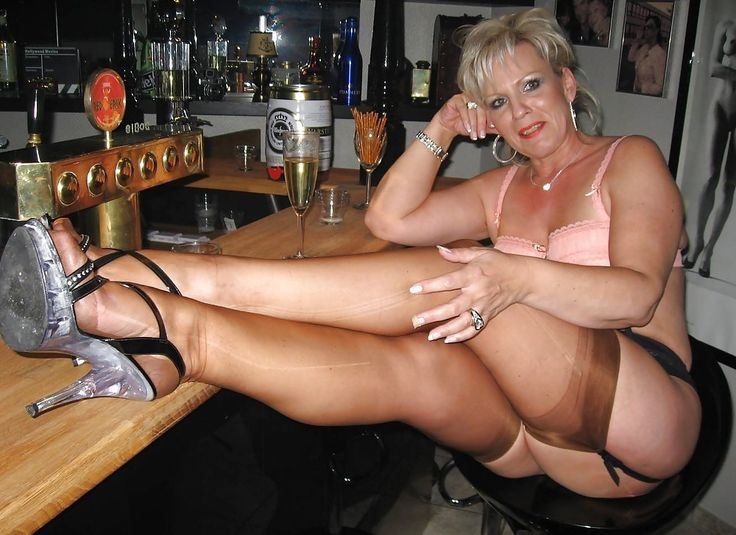Horny mature nylon women