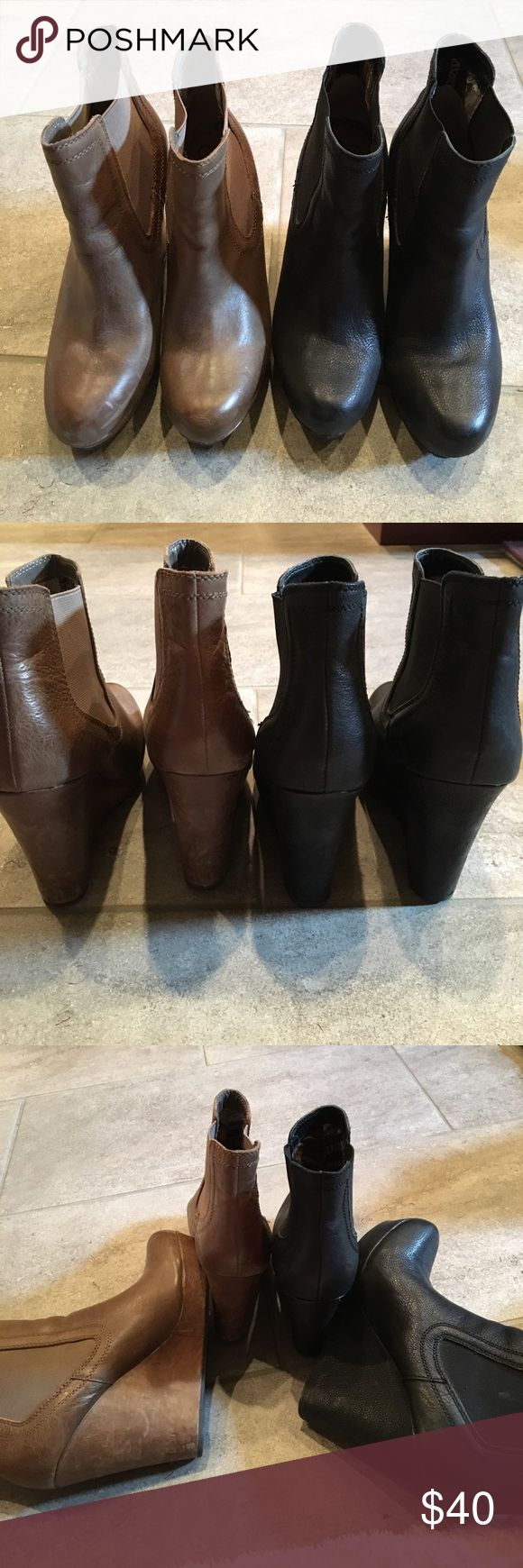 2 pair of Seychelles wedge booties.  S-9 Good condition!!  I will separate them if you want. Seychelles Shoes Ankle Boots & Booties