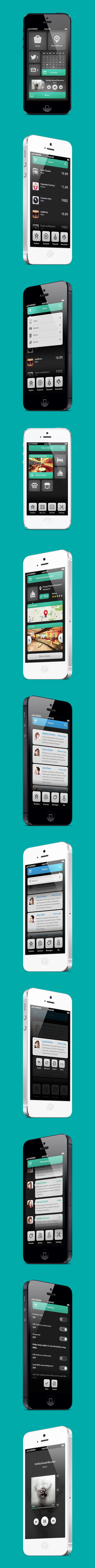 "Phone UI Retina - Natalie, via Behance *** "" The wonderful Design is what a user could ever want, How about a Sexy one, Strong and Cute, Smart and Gorgeous, as silky as a woman, We're introducing the most sexiest User Interface Design ever, meet Natalie and tell us what is sexy. "" by Ismail MESBAH"