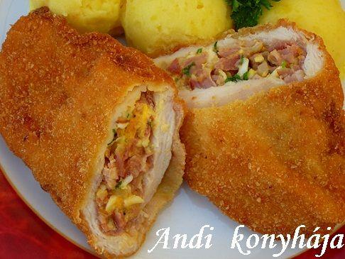 Húsvéti töltött csirkemell - Andi konyhája - Sütemény és ételreceptek képekkel