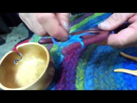 How to use a lucet for rug making NY Sheep and Wool Festival - YouTube