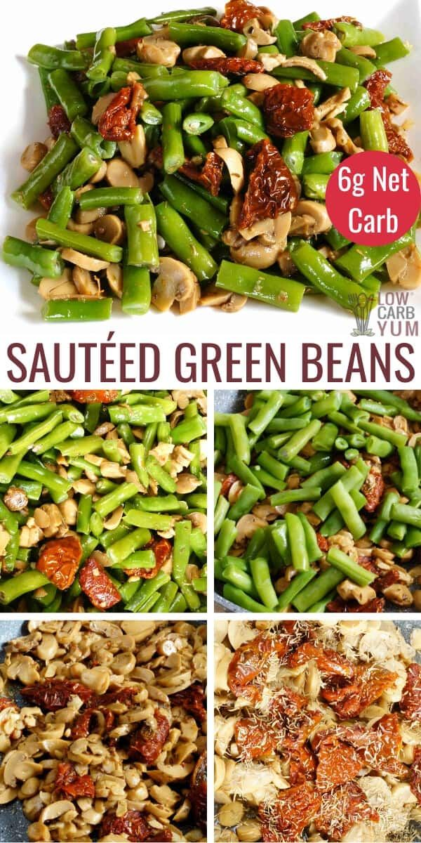 A Sauteed Green Beans Recipe That S Quick And Easy To Prepare It S Also Very Versatile Bacon Or Almon In 2020 Low Carb Recipes Atkins Beef Recipes Green Bean Recipes