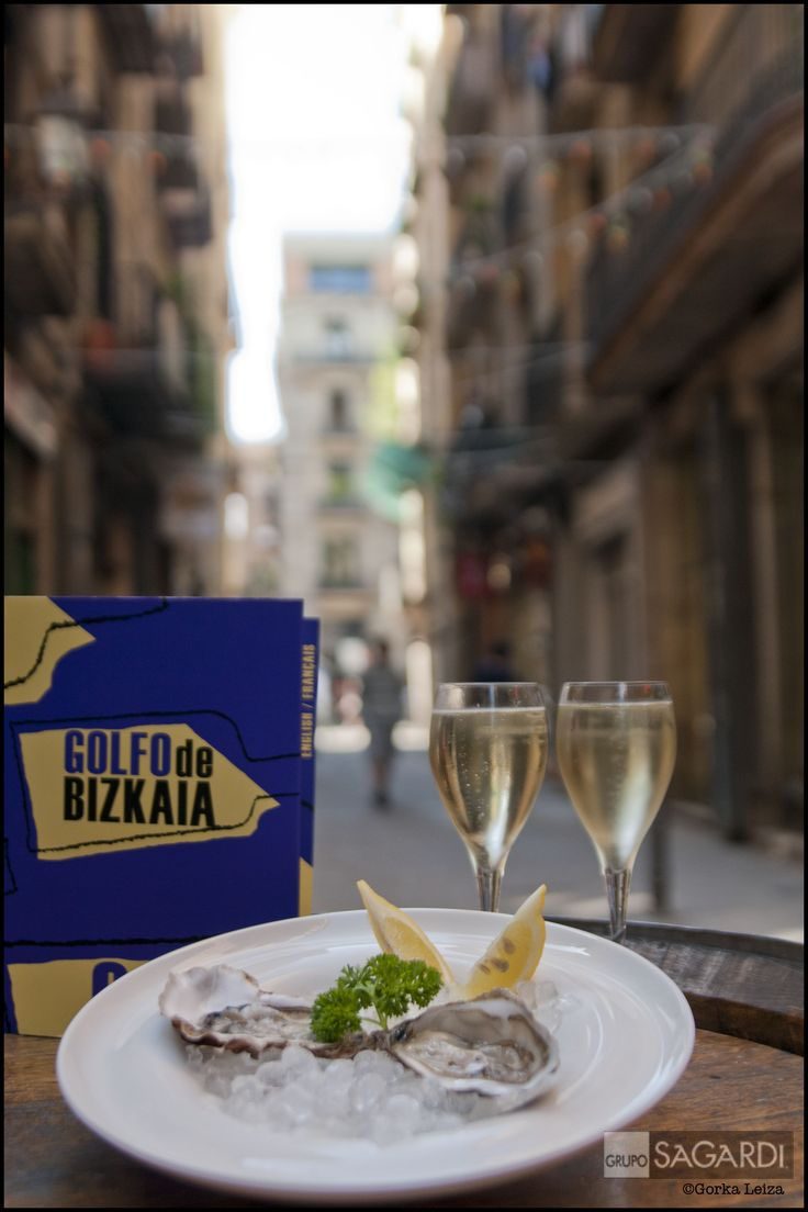 Golfo de Bizkaia en #Barcelona #born #seafood #fish #lonja #tapas #pintxos #oysters #wine #cava #glass #juliabernet