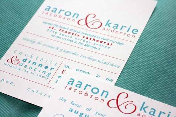 Modern Invites! Maybe I could do this myself!