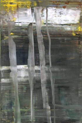 "Woods (2)       Gerhard Richter (German, born 1932)                                              2005. Oil on canvas, 77 5/8 x 52"" (197.2 x 132.1 cm)."