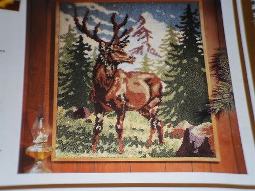 Large Latch Hook Canvas Rug Pattern Crafters Maral Stag ...