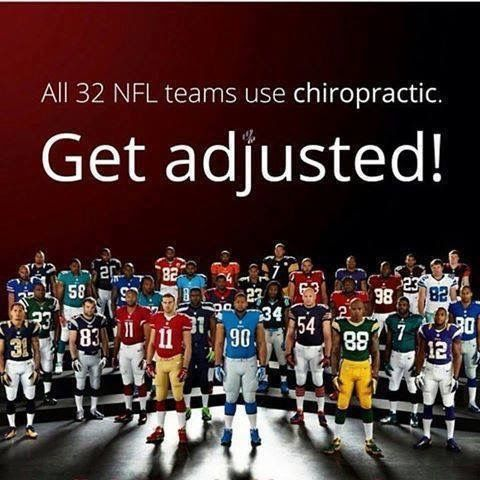 All 32 NFL teams use chiropractic. Get adjusted! #BreakthroughCoaching