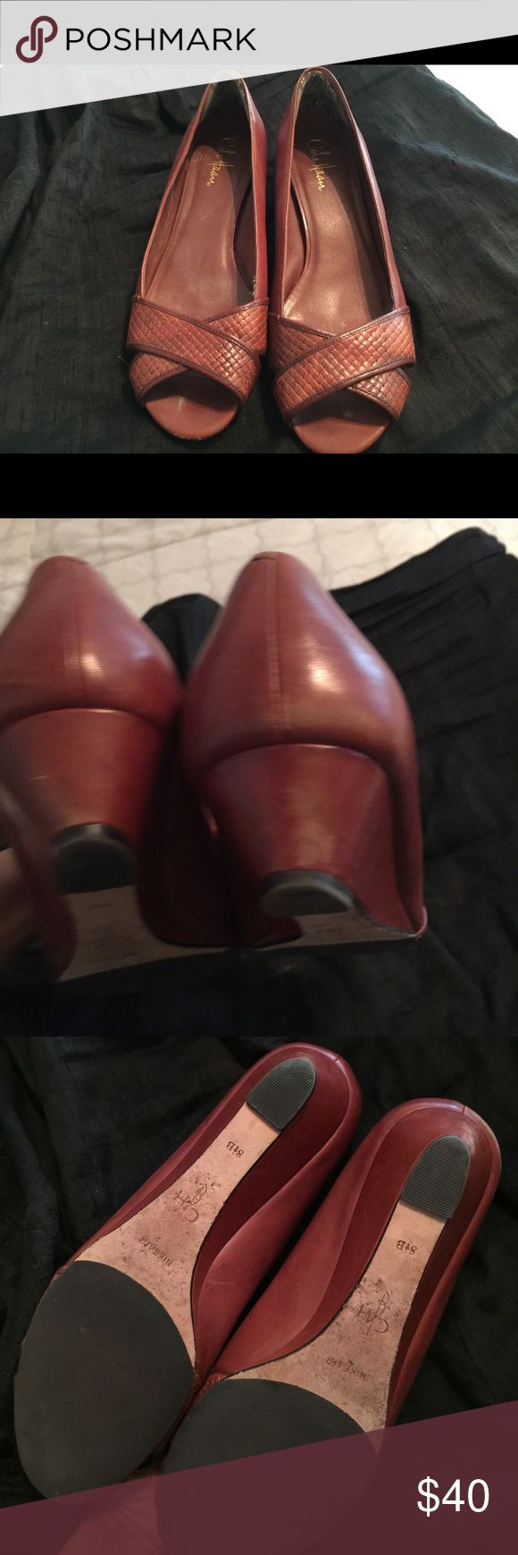 """Cole Haan🎉sale today 🎉 Gently worn maybe 5 times. Super comfy low wedge heel approx 1"""". Cole Haan Shoes Wedges"""