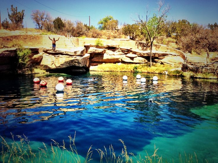 The Blue Hole of Santa Rosa is a circular, bell shaped pool east of Santa Rosa, New Mexico that is one of the most popular dive destinations in the US for SCUBA diving and training. #MyHometownPins