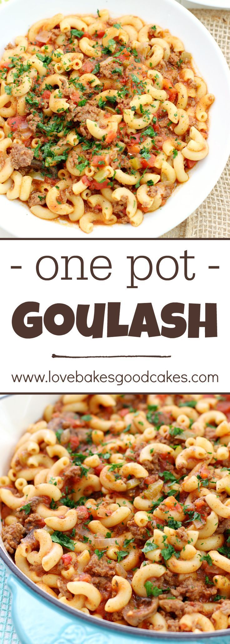 This One Pot Goulash is comfort food that will remind you of Grandma's kitchen! A hearty and satisfying dish!
