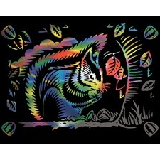 Reeves Rainbow Scraper Fun Range - Squirrel