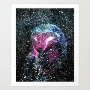 Starry Owl Art Print by Stephen