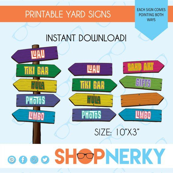 graphic about Printable Yard Signs referred to as Luau get together signs and symptoms Seaside Concept, Hawaiian, Wood Visual appearance
