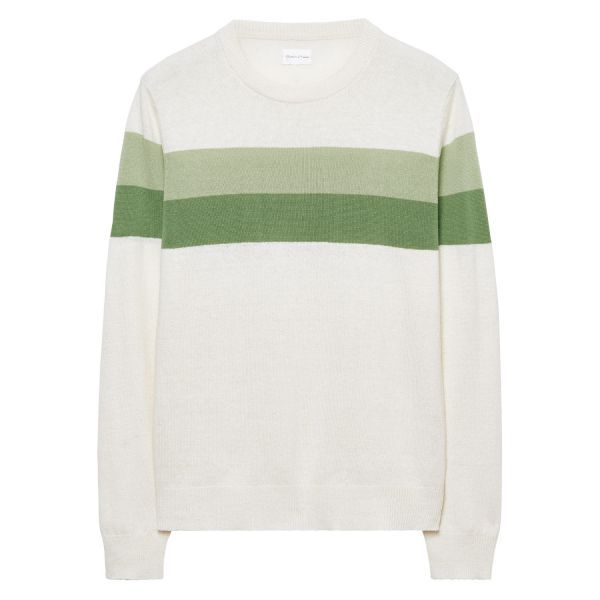 GANT Rugger: Linden Green Chest Stripe Crew Sweater men | GANT USA Store