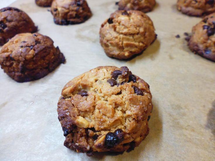 Biscoitos de manteiga de amendoim e chocolate