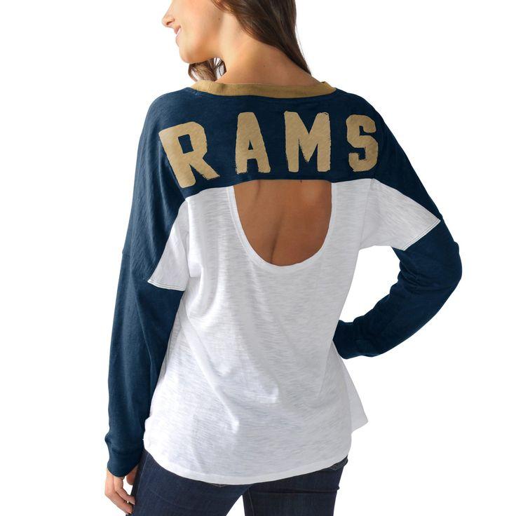 Los Angeles Rams Women's Ralph Long Sleeve T-Shirt - Navy