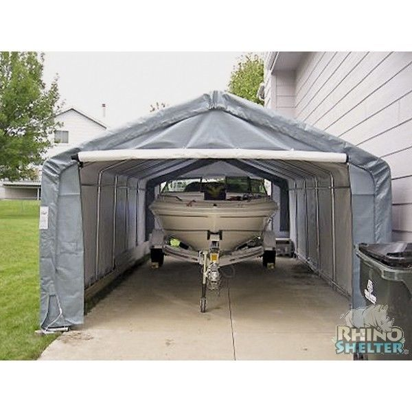 Rhino Portable Garage 12 39 X 24 39 X 8 39 Instant Car Shelter