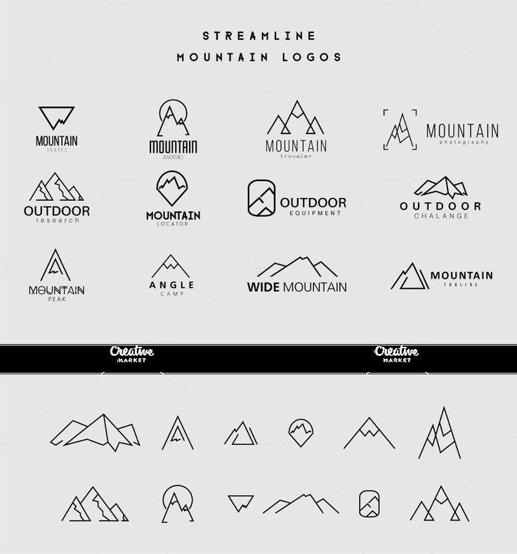 Streamline Mountain Logos by lovepower on Creative Market