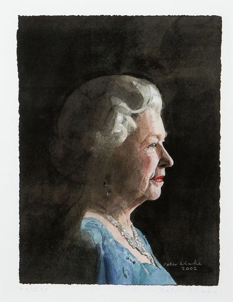 HM Queen Elizabeth II by Peter Blake, 2002