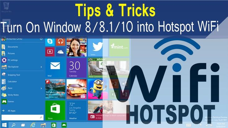 How to create hotspot in windows 8