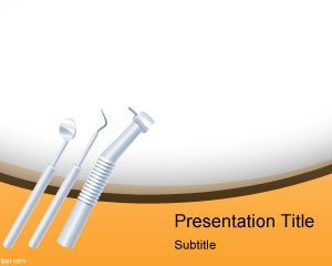 PowerPoint template with Dentist instruments #background #powerpoint