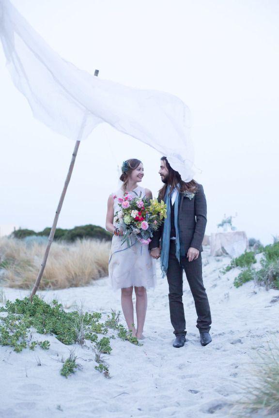 Boho beach wedding 14
