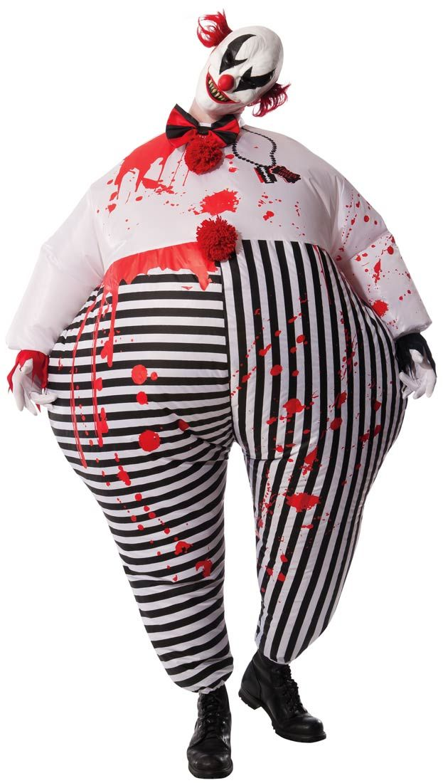 Adult Scary Inflatable Evil Clown Costume