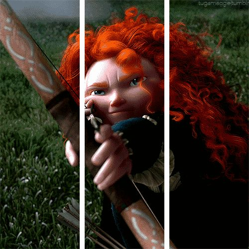 Help! Someone is shooting at me!!! Oh wait, it's just Merida on my screen.