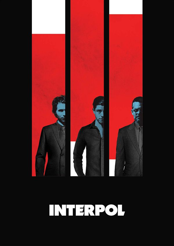 Interpol tribute poster on Behance