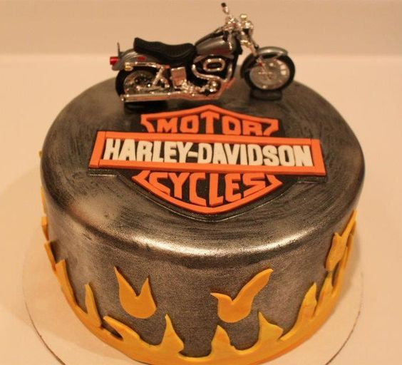Harley Davidson cake | Perfect for any birthday or other celebration for the motorcycle enthusiast                                                                                                                                                     Plus