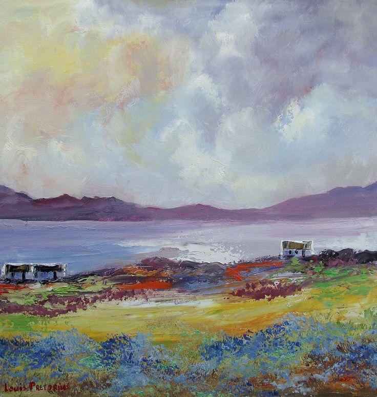 "For Sale: Living on te Edge by Louis Pretorius | $500 | 15""w 15""h | Original Art | https://www.vangoart.co/louis-pretorius/living-on-te-edge @VangoArt"