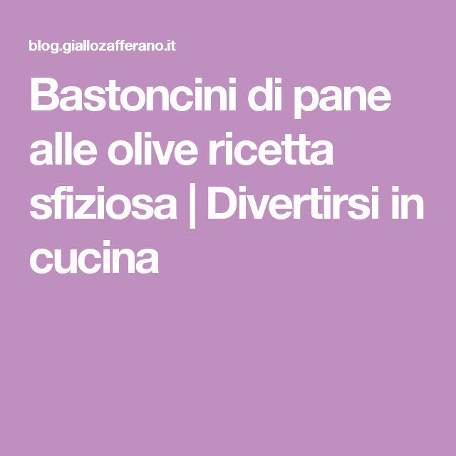 Bastoncini di pane alle olive ricetta sfiziosa | Divertirsi in cucina