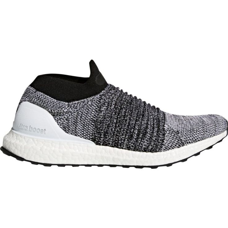adidas Men\u0027s Ultra Boost Laceless Running Shoes, Size: 12.0, Black/White