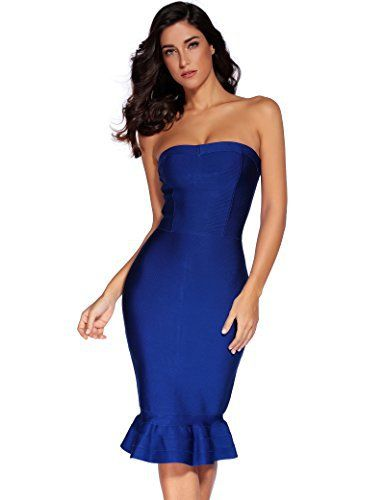 New Trending Formal Dresses: Meilun Womens Rayon Below Knee Bandage Bodycon Party Dress (M, Blue hem). Meilun Women's Rayon Below Knee Bandage Bodycon Party Dress (M, Blue hem)   Special Offer: $50.00      377 Reviews 100% satisfaction guaranteed.which looks sexy and beautiful for Party Cocktail dress We are factory specializing in the manufacture and export of sex product As a very...