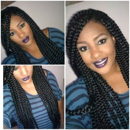 ... Hairstyles, Braids Style, Hair Style, Nature Hair, Jumbo Boxes Braids