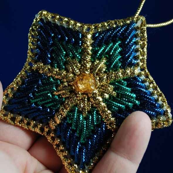 Plastic Canvas Ornaments - much for the yarn used,  but I like design