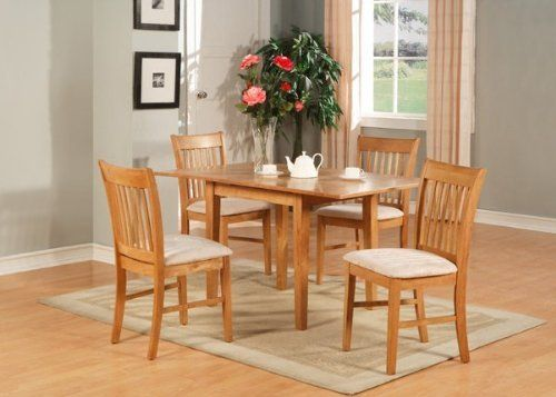 East West Furniture NO5 OAK C Norfolk 5PC Set With Rectangular Table Featured 12
