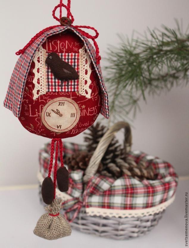 Пошаговый МК Часы с кукушкой. Текстильный сувенир. - Ярмарка Мастеров - ручная работа, handmade