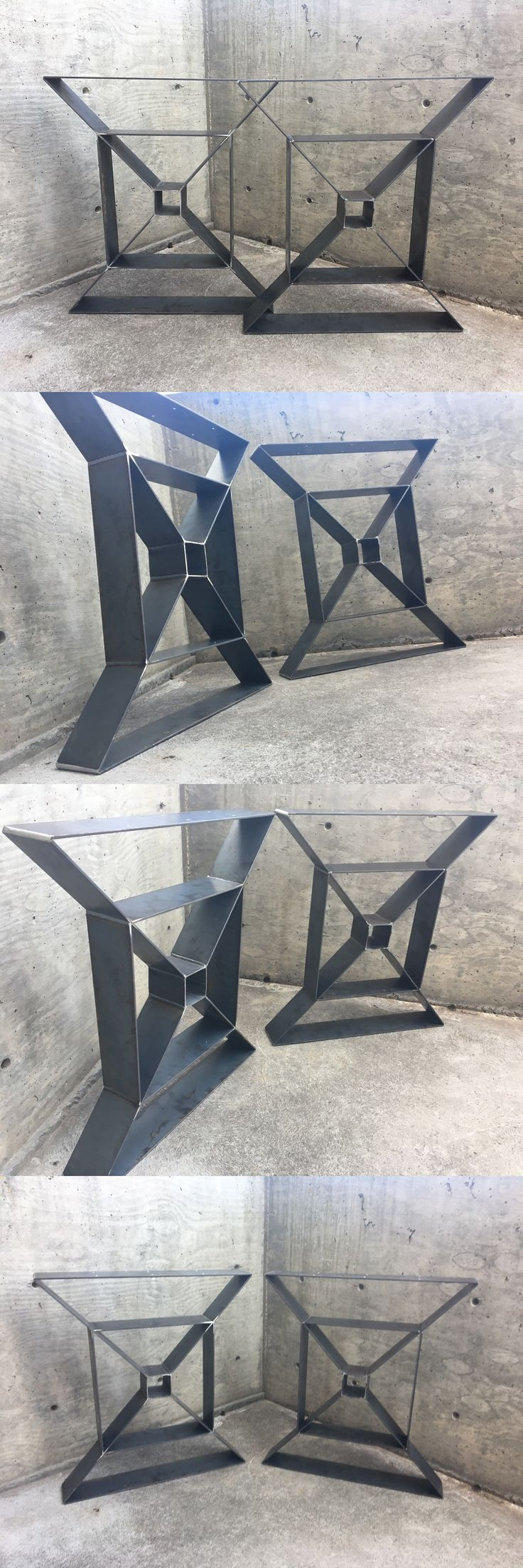 Wood dining with wrought iron quot clasp quot base very popular dining - Furniture Parts And Accessories 179690 Modern Steel Table Legs Heavy Duty Mid Century