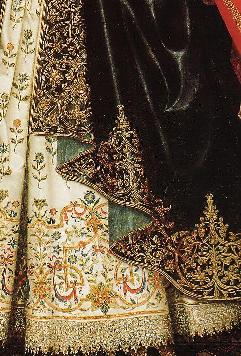 W. LARKIN - Lady Dorothy Cary, detail 1615