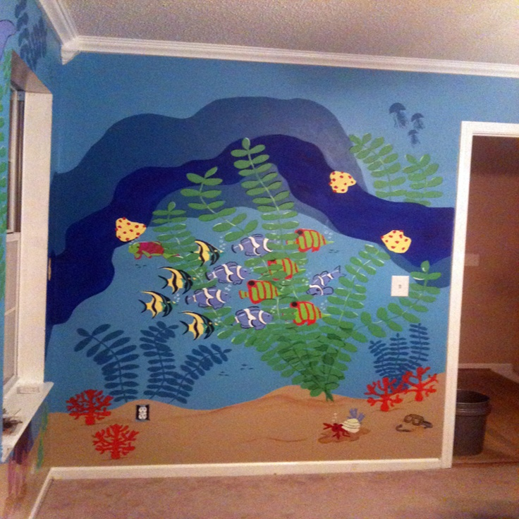 Play Room mural (Under Water Scene)    Muralsbytami.com can create designs of fantasy, underwater scenes or personalize a favorite place for your child.