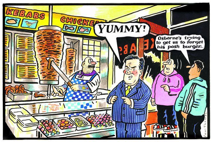 28 June 2013 - Osborne in a kebab shop after the 'posh' burger fiasco.