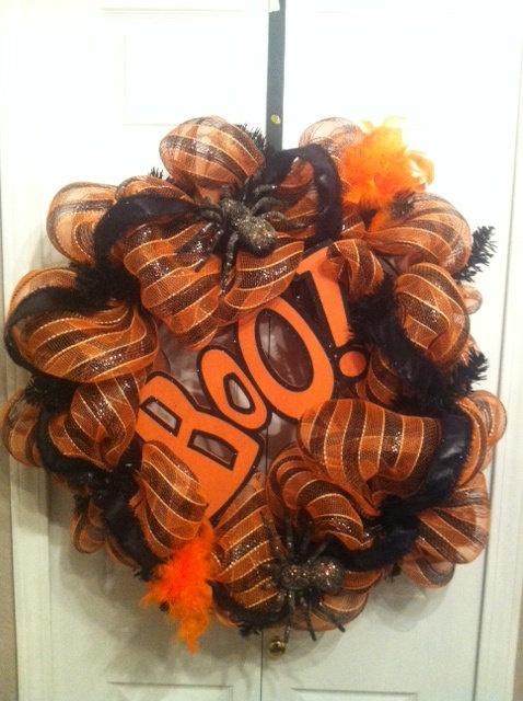 Halloween Boo Wreth by BowsNBurlap on Etsy, $80.00