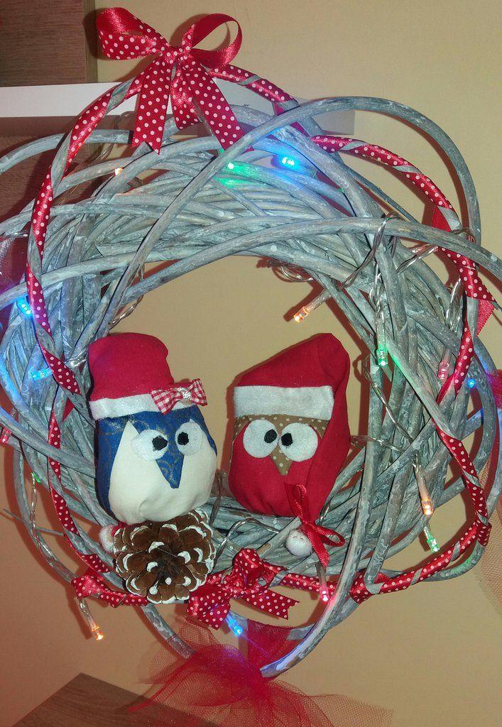 Ghirlanda natalizia gufetti , by francycreations non solo idee regalo, 25,00 € su misshobby.com