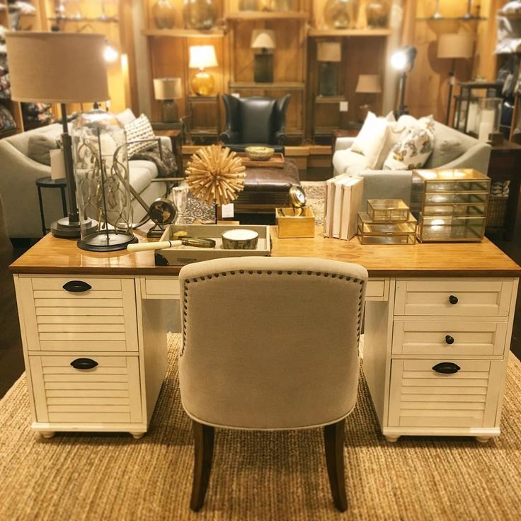 If you have stepped foot into Pottery Barn Chatswood recently, you are sure to have laid your eyes on the Whitney Rectangular Desk Set. With unique details such as shuttered doors and bun feet, it brings beauty as well as utility to any home office #potterybarnoffice #homestyling #stunninglypractical