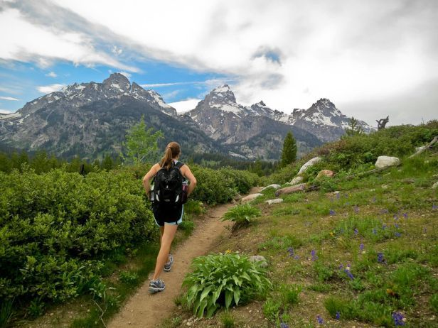 Popular day hikes and trail runs in Jackson Hole, Wyoming with views of the stunning Teton Mountains.
