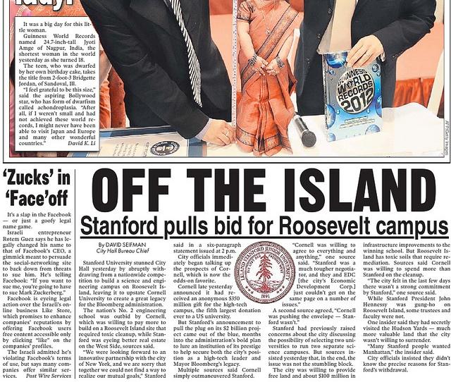 I'm Mark Zuckerberg publicity stunt on the New York Post.