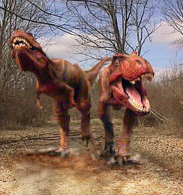 Os destemidos tiranossauros rex. Você pode acessar jogos online & grátis de dinossauros acessando o link - http://www.jogoson.com.br/jogos-de-dinossauros/